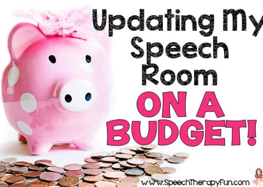 Speech Therapy Fun: Speech Room On A Budget