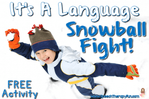 Speech Therapy Fun: Language Snowball Fight