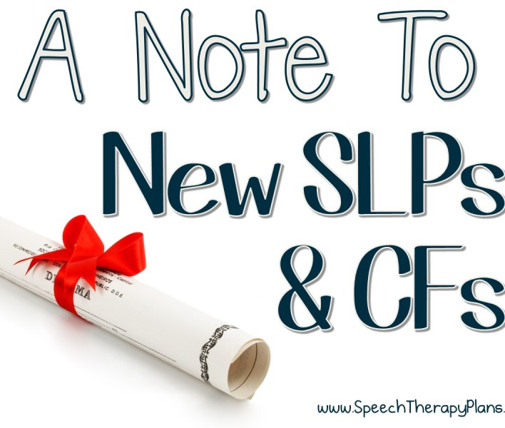Speech Therapy Plans: Advice for New SLPs and CFs