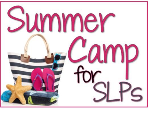Speech Therapy Plans - SLP Summer Camp
