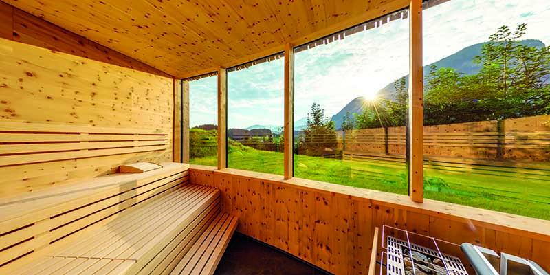 Sauna im Das Sieben Hotel