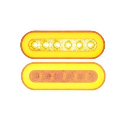 """Luces De Led Para Camión 6.5"""" Ovalada Naranja"""
