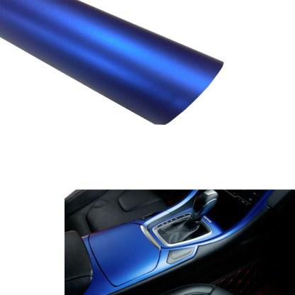 Vinilo Adhesivo azul mate metalizado
