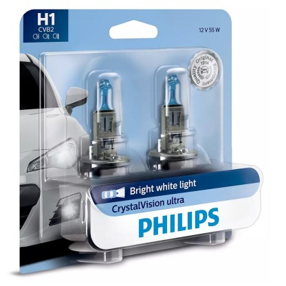 Bombillo Crystal Vision Philips H1 12V