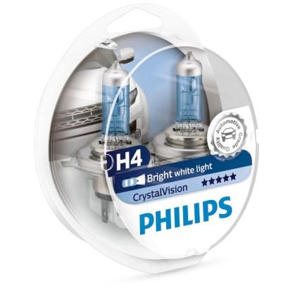 Bombillo Crystal Vision Philips H4 12V