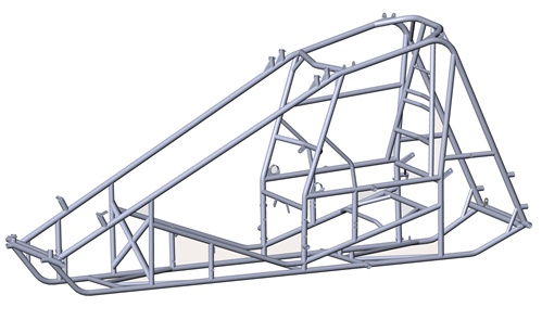 bare sprint car frame