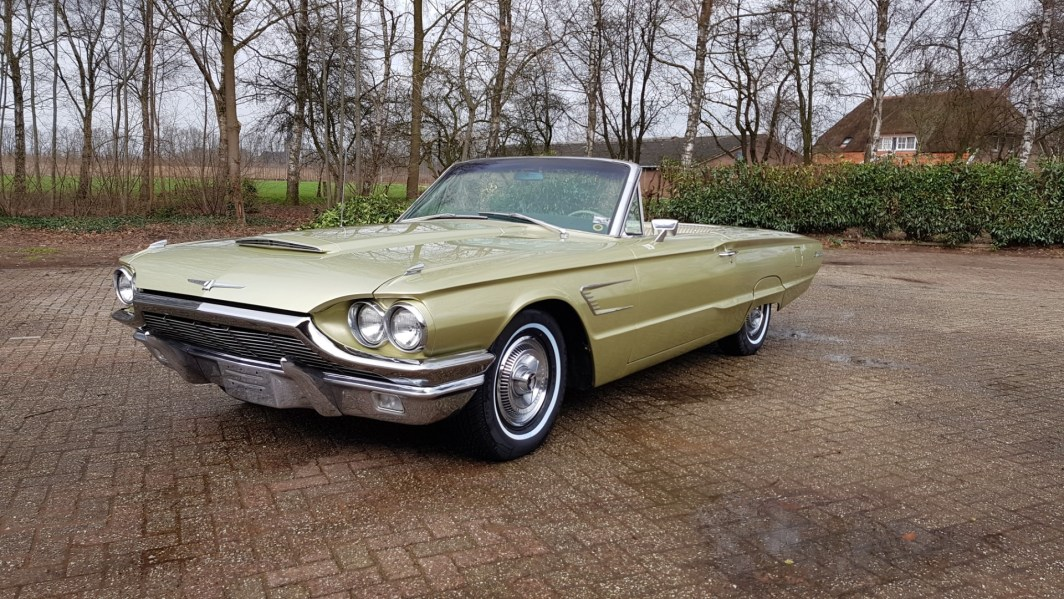 1965 Ford Thunderbird Convertible Ivy Gold Speed Monkey Cars