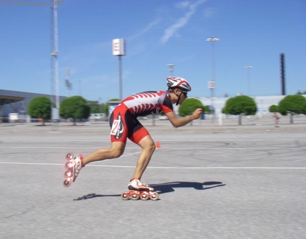 Daniel Friberg på väg mot målet