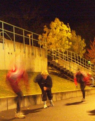Barmarksträning 2008-10-28. Foto: Ulf Haase.