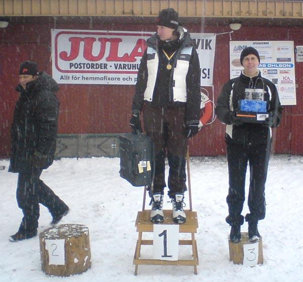 Sollentunaloppet 22 feb 2009, Catharina Erlich. Mobilkamerafoto: Björn Larsson.