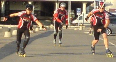 Teknikträning Frihamnen 2009-05-19. Mobilkamerafoto: Ulf Haase.