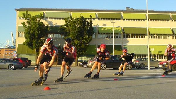 Teknikträning 2009-06-23. Mobilkamerafoto: Ulf Haase.