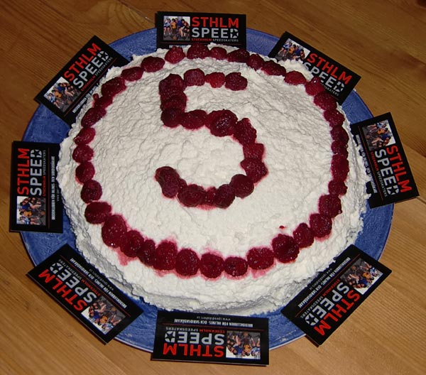Tårta Sthlm Speed 5 år