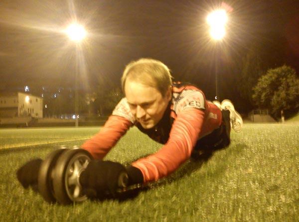 Barmarksträning Ö–IP 2011-10-04. Mobilkamerafoto: Ulf Haase.
