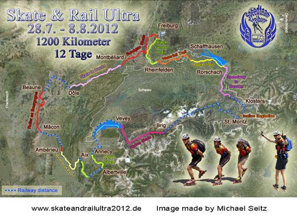 Skate & Rail Ultra 2012. Karta gjord av Michael Seitz.