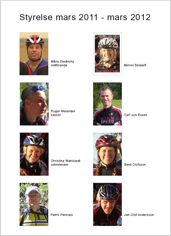 Sthlm Speeds styrelse 2011-03