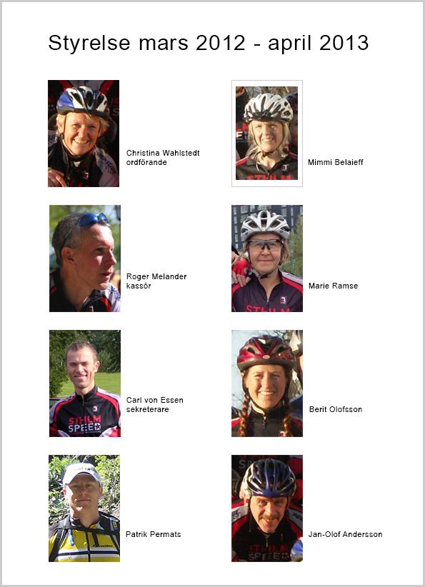 Sthlm Speeds styrelse 2012-03