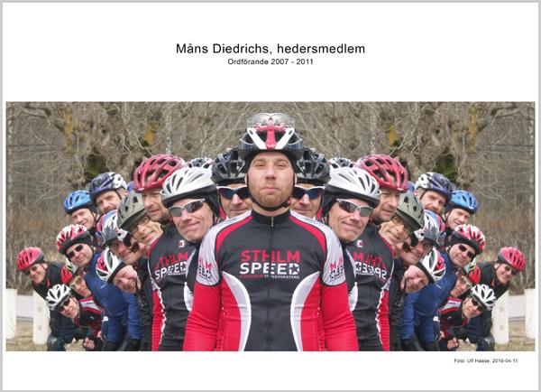 Hedersmedlem Måns Diedrichs. Foto: Ulf Haase 2010-04-11.