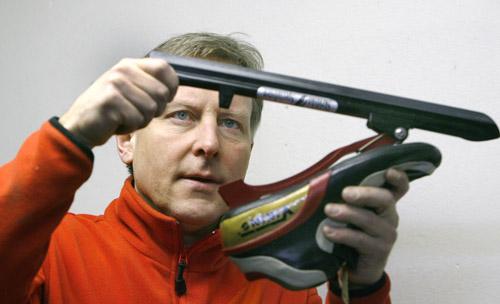 Jan Landelius skridskoslipare i OS
