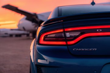 A new rear spoiler, unique to the 2020 Dodge Charger SRT Hellcat Widebody, is designed to create aero balance with the new front-end design