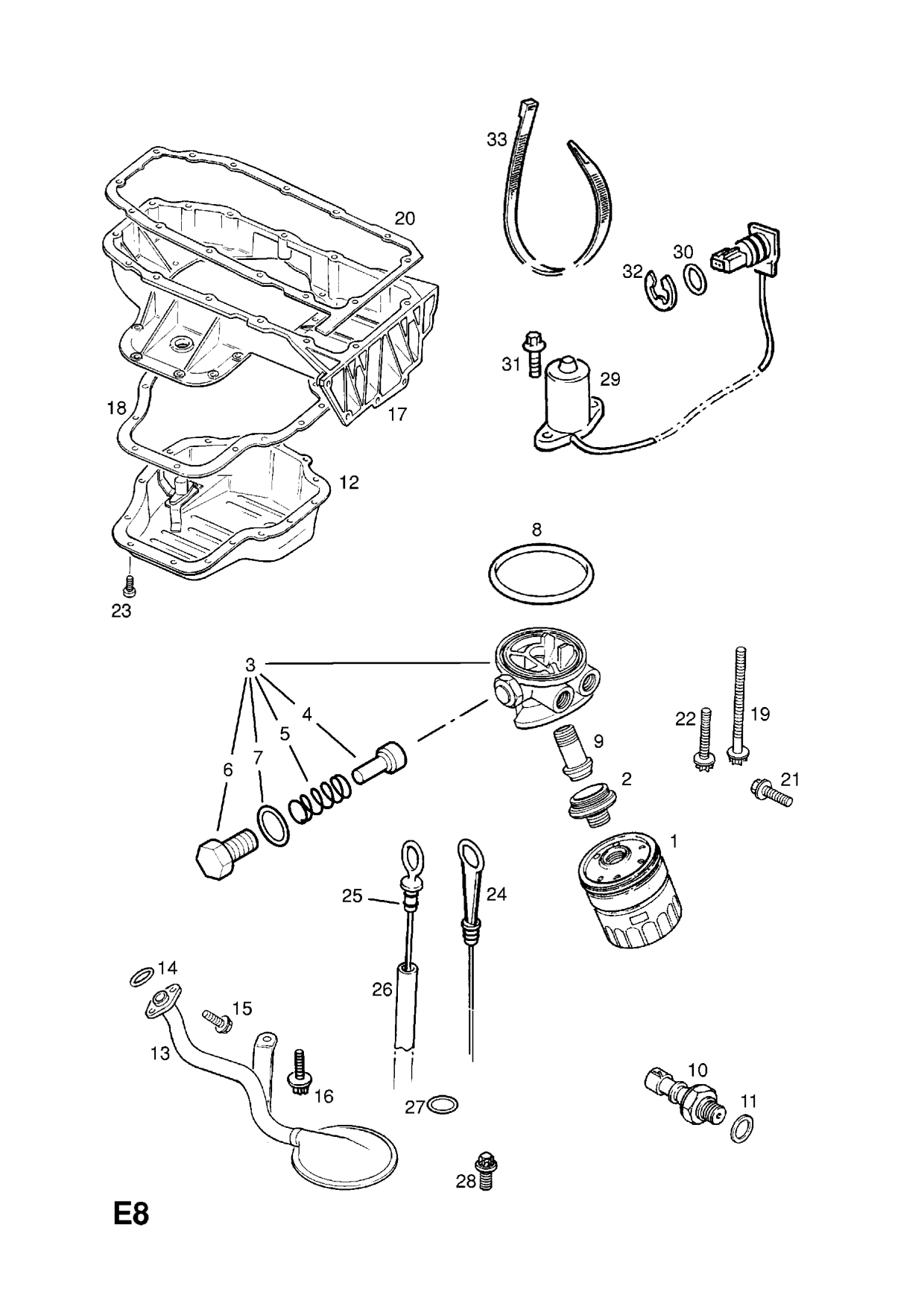 Group E Engine And Clutch Subsection 1 Z20let Petrol Engine