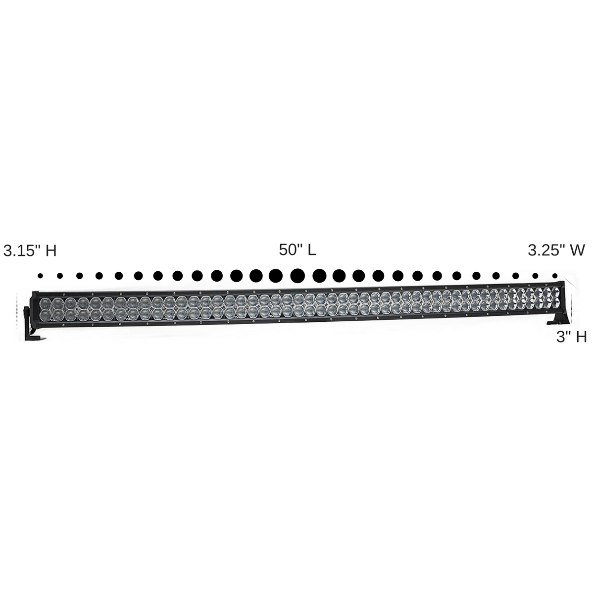 Dual Carbine 50 Flood Off Road Curved Led Light Bar