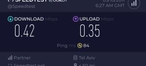 בדיקת מהירות ברשת אורנג' בחלק הצפוני של נתניה