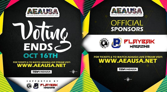 VOTING FOR THE AFRICAN ENTERTAINMENT AWARDS USE ABOUT TO END