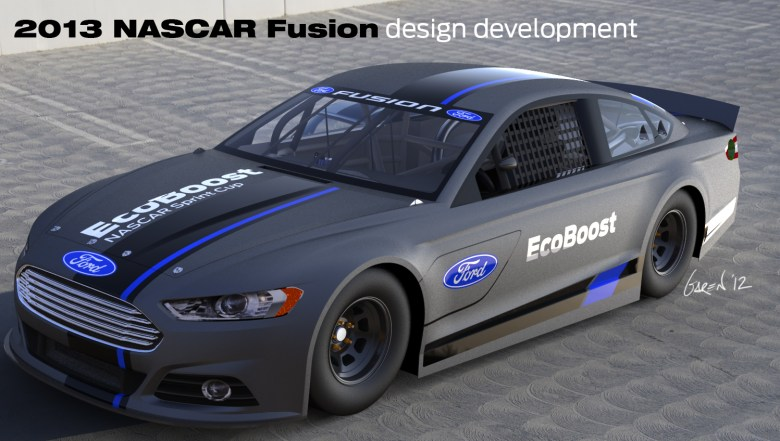 Ford Design Center Makes Further Changes to '13 NASCAR Fusion - With Photos