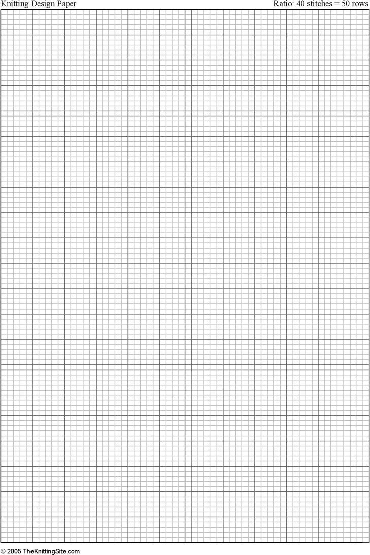 Free A4 Knitting Graph Paper Ratio 45 Portrait Orientation PDF 43KB 1 Pages