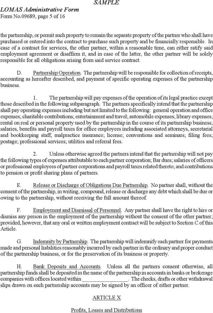 Learn which type of llc operating agreement your company needs. Free Sample Partnership Agreement Doc 88kb 16 Page S Page 5