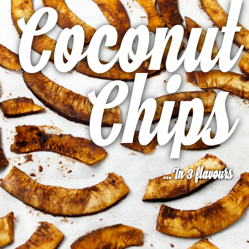 Homemade coconut chips