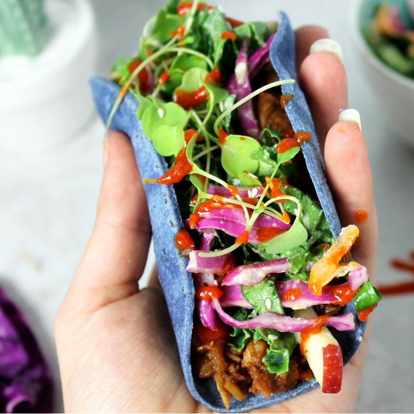 Vegan pulled pork taco delicious