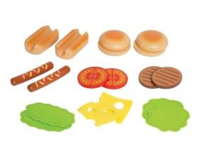 hamburgers, hotdogs,
