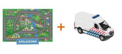 Combideal: het speelkleed van Apeldoorn met een Politiebus