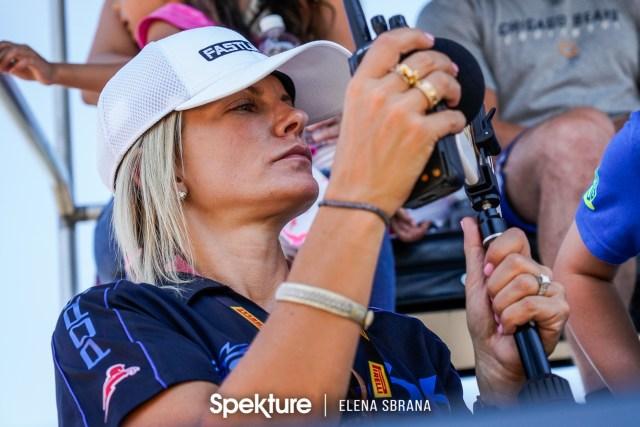 Earchphoto - Brooke De Boer filming in pit lane during qualifying.
