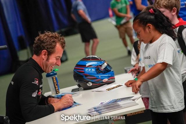 Earchphoto - Derek De Boer during a sports camp autograph session.