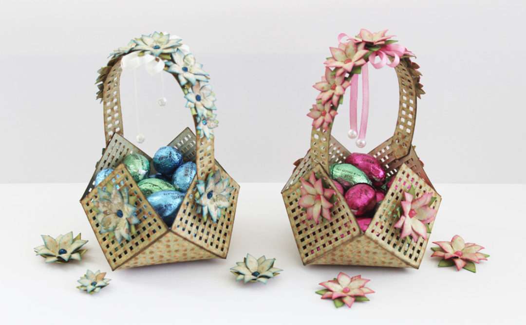 Easter Lattice Floral Basket by Marisa Job