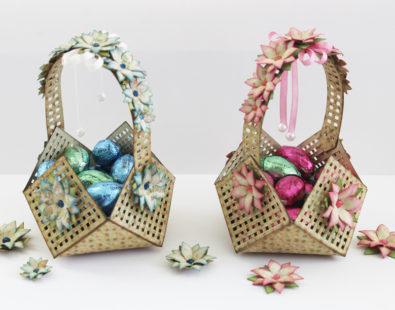 Easter Lattice Floral Basket by Marisa Job