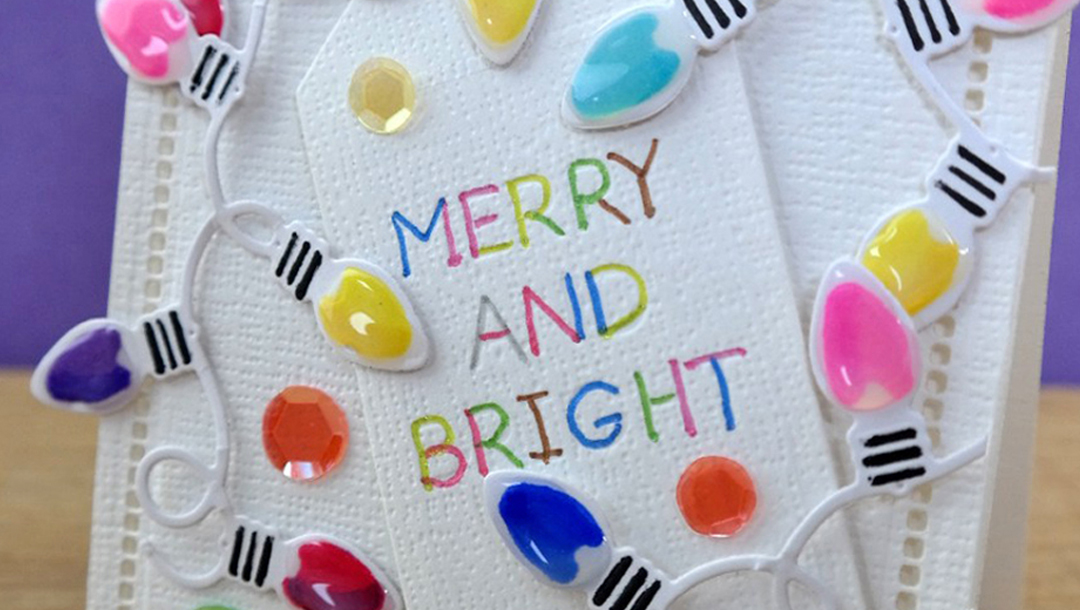Quick and Easy Twinkle Lights Holiday Card Featured Image