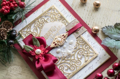 Becca Feeken of amazingpapergrace.com for Spellbinders - Repurposing The Filigree Booklet Die into a Card