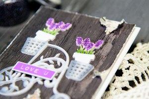 Love You Card by Yana Smakula for Spellbinders using Shapeabilities Lavender Trike Etched Dies