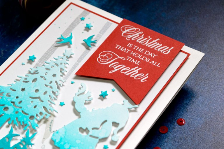 Quick Technique | Christmas Is The Day Card by Yana Smakula for Spellbinders with Deck The Halls Die