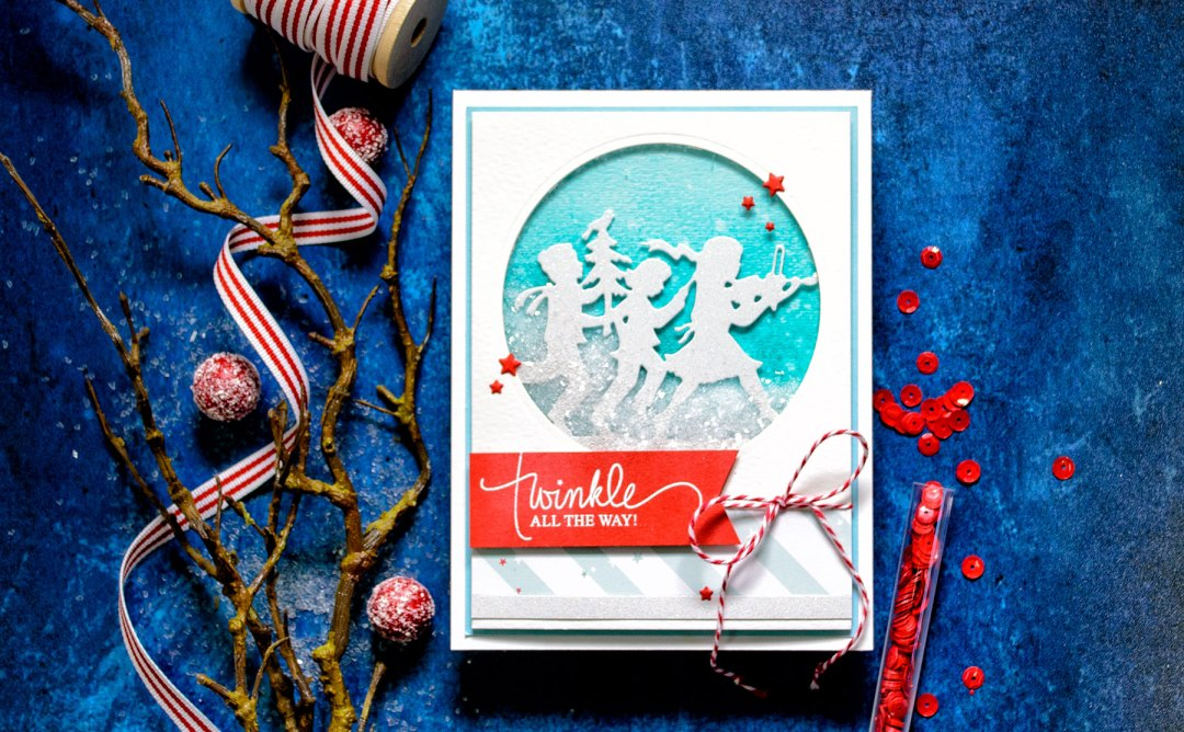Quick Technique | Twinkle All The Way Card by Yana Smakula for Spellbinders using Fa La La Die
