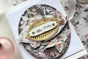 Handmade Rose Cards by Elena Olinevich for Spellbinders. Using SES–012 Wedding Ring,SES–013 Flourish,S5-211 Romantic Rectangles Two dies as well as S5–330 Lunette Arched Borders and S6-129 Bella Rose Lattice Set set by Becca Feeken. #spellbinders #diecutting #cardmaking #handmadecard