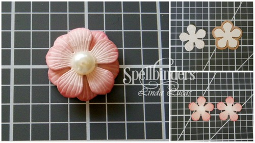 Spellbinders Gift for You Card by Linda Lucas using S5-317 Textured Flowers, S4-829 For You, S5-308 Hemstitch Rectangles, S5-311 Emmeline Treillage, SDS-053 Graceful Tiny Tag Stamp and Die Set #spellbinders #cardmaking #diecutting