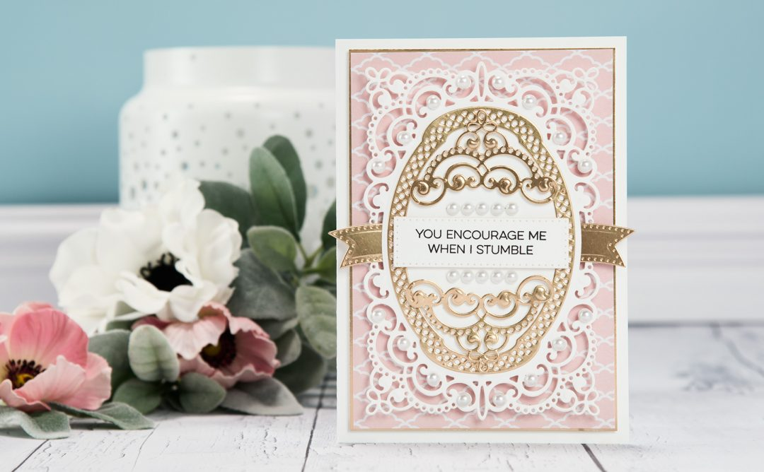 Cardmaking Inspiration | You Encourage Me When I Stumble Card