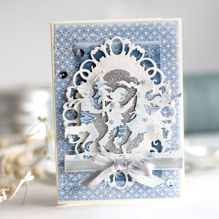 Fa La La Cards with Elena Olinevich for Spellbinders using S4-601 Label 33 S4-828, Fa La La (designed by Sharyn Sowell), S5-298 Label 33 Decorative Elements dies #spellbinders #cardmaking #christmas