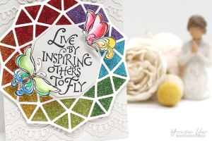 Bible Journaling Inspiration   Live By Inspiring Others with Yoonsun Hur for Spellbinders using SBS-142 Inspiring Others S5-280 Geo Flower #spellbinders #neverstopmaking #diecutting #stamping #handmadecard