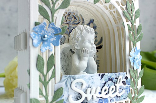 Video Friday   Paper Diorama / Figurine Holder with Olga using S3-303 Little Plants, S4-563 Phrase Set One, S4-883 Nordic Tree, S5-338 Wreath Elements, S6-138 Grand Arch 3D Card, SES-013 Flourish Stitch #spellbinders #diecutting